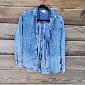 Cloth & Stone - Chambray Button Down Blouse
